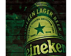Placa decorativa 20x20- 0072 Heineken