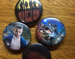 Kit 4 Bottons / Broche Stranger Things