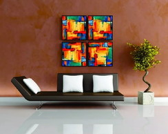 QUADRO DECORATIVO MODERNO - KIT C/04
