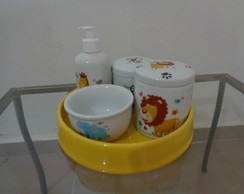 KIT HIGIENE BEBE PORCELANA SAFARI