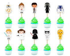Topper Cupcake Star Wars