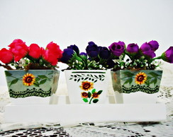 Arranjo Floral Trio de Mini Vasos