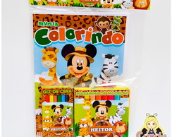 Kit Colorir com Massinha Mickey Safari