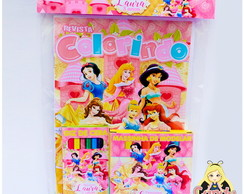 Kit Colorir com massinha Princesas