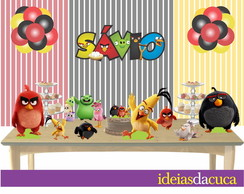 Kit Festa Totens Placa Topo Angry Birds