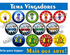 Arte Digital Toppers Vingadores