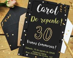 Convite Aniversário 30 Anos Elo7