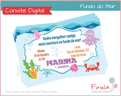 Convite Digital Fundo do Mar
