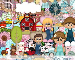 Kit Scrapbook Digital Farmer Fazendinha