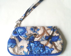 MINI CLUTCH ESTAMPA AZUL FLORAL