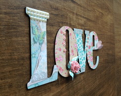 Love Mdf Decorado Scrap