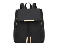 "Mochila Black Pin Gold ""P"""