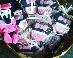 Minnie Rosa Biscoitos Decorados