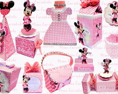 Arquivo de Corte Kit Minnie Rosa