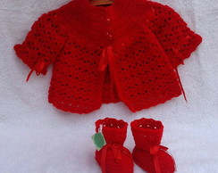 Conjunto Red Crochê