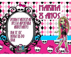 Convite - Tema Monster High