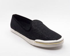 TÊNIS SLIP ON LUREX PRETO