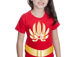 Camiseta She-ra Princesa Customizada Com Cinto Estampado