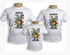 Kit camisetas Minecraft