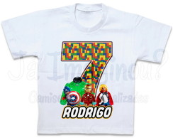 Camiseta Lego Marvel Super Heroes
