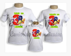 Kit camisetas Backyardigans