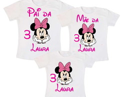Kit 3 Camiseta Minnie Rosa