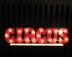 Placa Circus - luiminoso