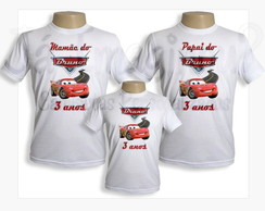 Kit de camisetas Carros