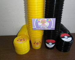 Copinhos 200ml Com tampa pokemon