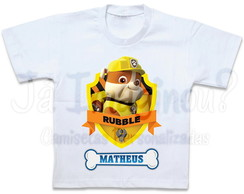 Camiseta Patrulha Canina Rubble