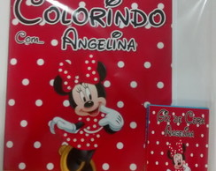 Kit de Colorir da Minnie Vermelha