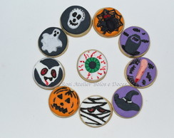 Biscoitos decorados Halloween