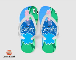 Chinelo Lembrança Aniver George Pig