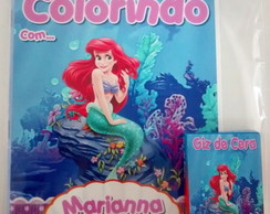 Kit de Colorir Pequena Sereia