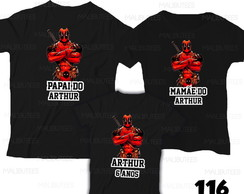 Camiseta Deadpool Aniversario kit c/ 3