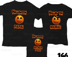 Camiseta Halloween Aniversario kit c/3
