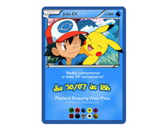 Convite Digital Card Pokemon