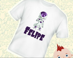 Camiseta Infantil Personalizada Freeza Dragon Ball C276BR