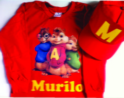 Camiseta e Bone do Alvin