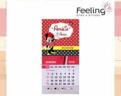CALENDARIO COM ÍMÃ 2017 - MINNIE MICKEY