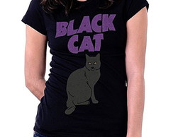 BABY LOOK RAGLAN - BLACK CAT