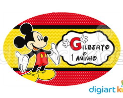 Placa - Painel - Oval - Mickey 70cm