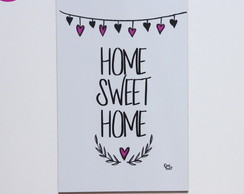 Placa decorativa - HOME SWEET HOME- 6mm