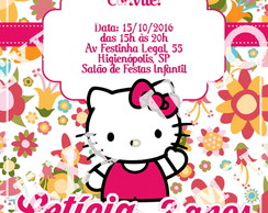Convite virtual Hello Kitty