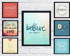 Quadros Decorativos - Believe