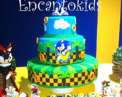 Maquete Sonic em Biscuit