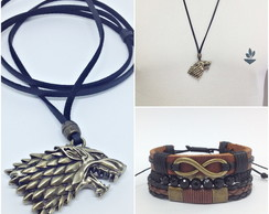 Kit Colar Game Of Thrones 3 Pulseiras
