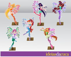 Displays em MDF Festa Mini Totens Winx