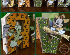 Letras 3D Mickey Safari