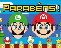 Mario Bros papel arroz a4